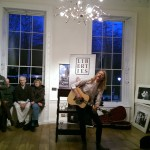 Larry Beau playing at the Little Museum of Dublin for Liberties Press